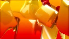 Rotating orange and red rectangular shape stock video