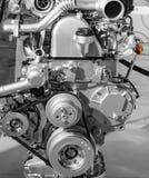 Rotating parts of car engine Stock Photo