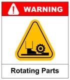 Rotating Parts Hazard sign, vector illustration Royalty Free Stock Images