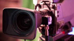 Rotating Parts of a Professional Television Lens stock footage