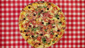 Rotating pizza stock footage