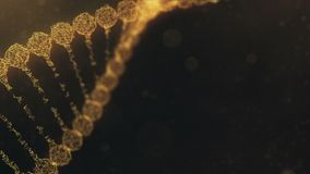 Rotating plexus DNA chain with impulses running through - orange version
