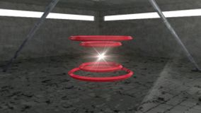 Rotating red ball created from 3D elements. abstract background stock video
