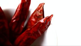 Rotating red pepper stock footage