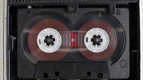 Vintage cassette tape player closeup