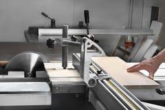 Rotating saw blade Stock Image