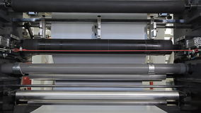 Rotating shafts on a factory stock footage