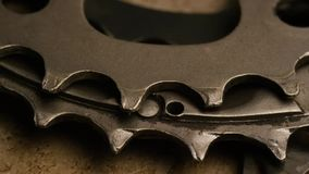 Rotating shot of gears. Video of rotating shot of gears stock footage