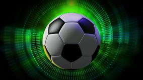 Rotating Soccer Ball as 3d Animated Sports Motion Graphics Background in full HD. 1920x1080 progressive resolution stock video footage