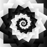 Rotating spiral grayscale geometric background - Abstract patter Stock Photography