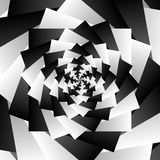 Rotating spiral grayscale geometric background - Abstract patter Stock Photo