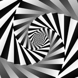Rotating spiral grayscale geometric background - Abstract patter Stock Images