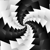 Rotating spiral grayscale geometric background - Abstract patter Royalty Free Stock Photo