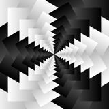 Rotating spiral grayscale geometric background - Abstract patter Stock Image