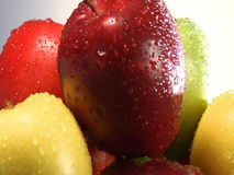 Rotating stack of apples stock video footage