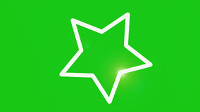 Rotating star with moving flare green screen stock footage