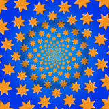 Rotating Stars, Optical Illusion, Vector Illustration Pattern. Royalty Free Stock Photo