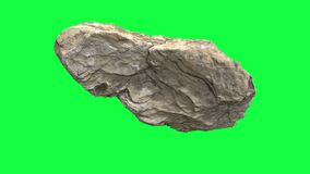 Rotating stone on green screen