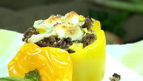 Rotating Stuffed Peppers (loopable) Stock Photography
