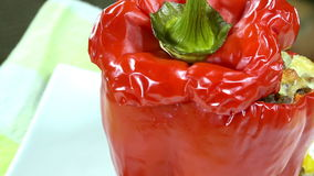 Rotating Stuffed Peppers (loopable) Royalty Free Stock Image