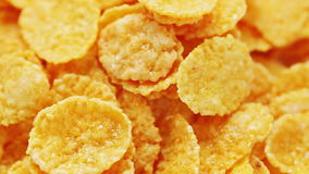 Rotating sweet corn flakes, food background stock footage