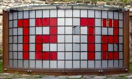 Rotating Tile Digital Clock Royalty Free Stock Image