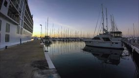 Rotating timelapse of Ocean Village Marina, Gibraltar stock video