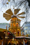 The rotating tower at the Rindermarkt Christmas market in Munich Royalty Free Stock Photos