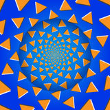 Rotating Triangles, Optical Illusion, Vector Illustration. Royalty Free Stock Image