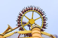 Rotating wheel in an amusement park Royalty Free Stock Photo