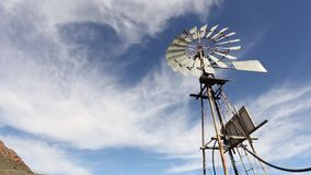 Rotating wind pump stock footage
