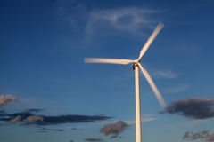 Rotating wind turbine Royalty Free Stock Images