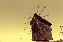 Rotating windmill for pumping water Stock Images