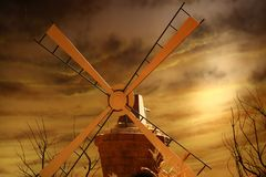 Rotating windmill for pumping water Stock Image