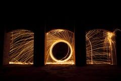 Rotation abstraite du feu Image libre de droits