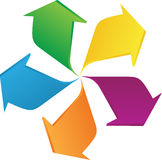 Rotation arrows. A vector drawing represents rotation arrows design Stock Photo