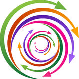 Rotation arrows. A vector drawing represents rotation arrows design royalty free illustration