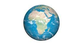 Rotation av jorden - 3D framför royaltyfri illustrationer