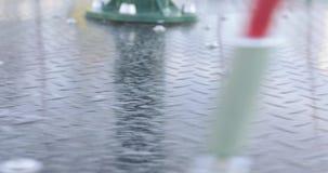 Rotation av karusellen i parkerar lager videofilmer