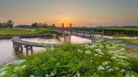 Rotation Bridge over a Dutch Canal Stock Image