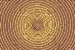 Rotation brune abstraite Photographie stock libre de droits
