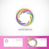 Rotation circle corporate logo Stock Images