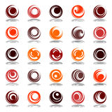 Rotation in circle shape. Design elements set. Royalty Free Stock Photo