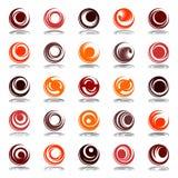 Rotation in circle shape. Design elements set. Royalty Free Stock Photo