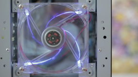 Rotation computer Fan with Lighting stock footage