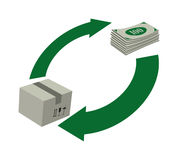 Rotation d'argent Images stock