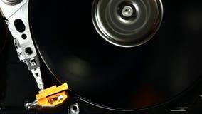 Rotation d'entraînement de HDD haute et mouvement de la tête banque de vidéos