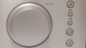 Rotation d'un bouton 4K de volume banque de vidéos