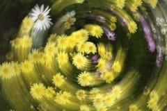 Rotation de fleurs Images libres de droits