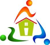 Rotation de gens avec soins à la maison Photo libre de droits